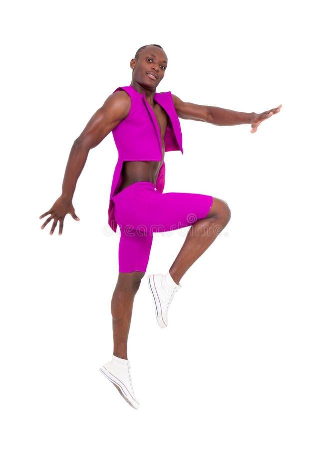 舞蹈演员跳的年轻人 免版税库存照片