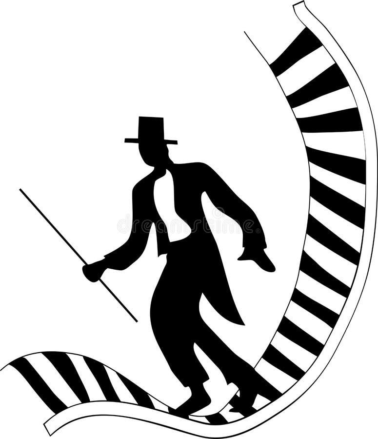 舞蹈演员钢琴 免版税库存图片