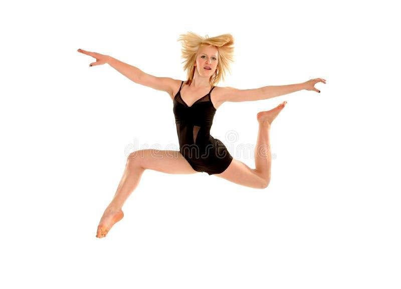 舞蹈演员飞行 库存照片