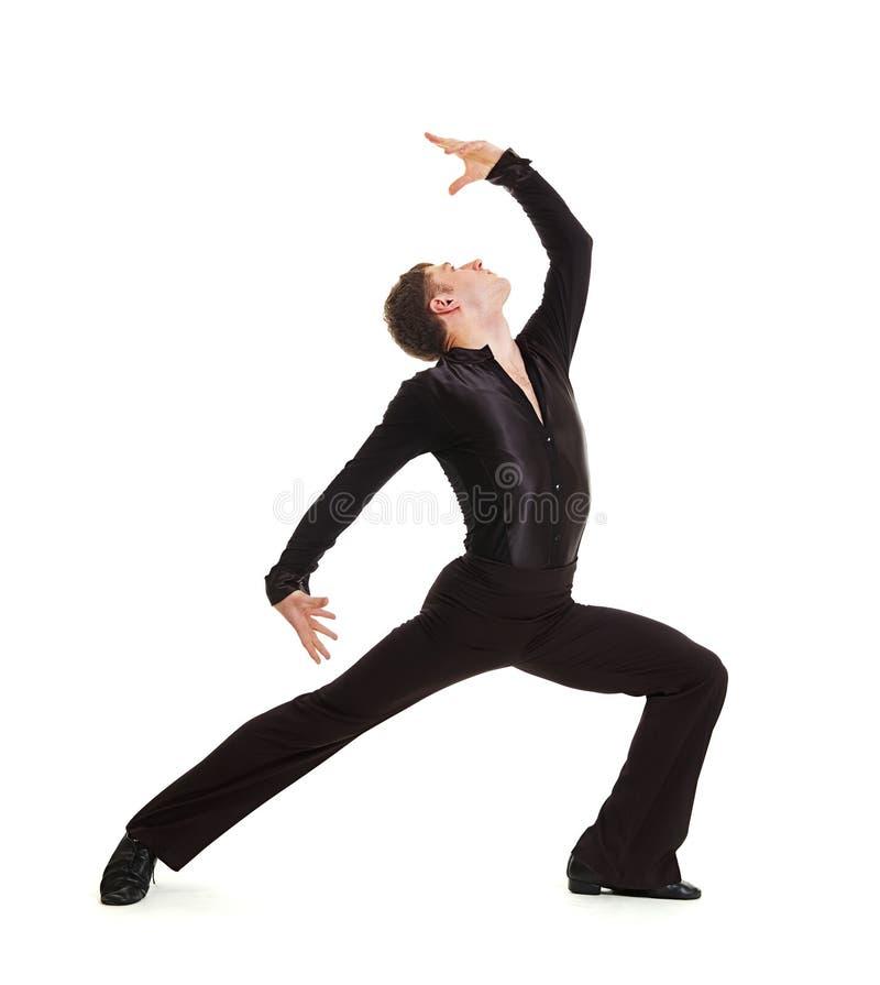 舞蹈演员高雅摆在 免版税库存照片
