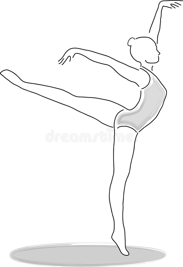 舞蹈演员eps 库存例证
