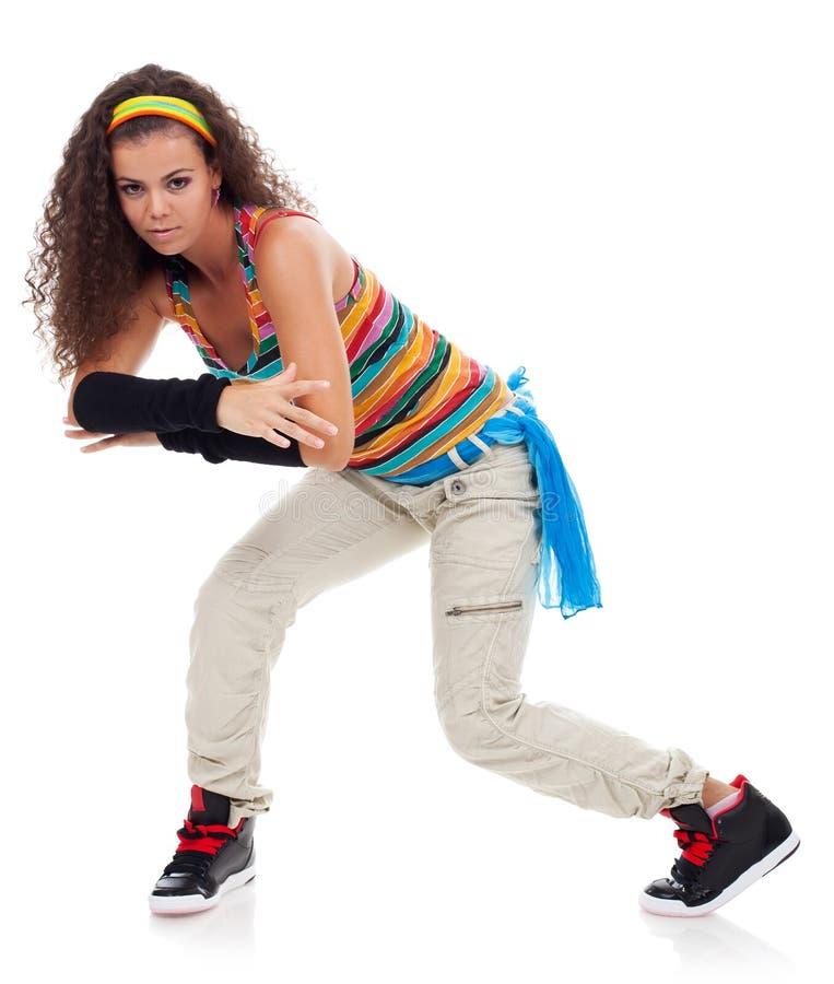 舞蹈演员Hip Hop现代相当亭亭玉立的样式 免版税库存照片
