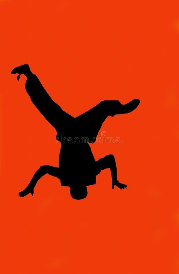舞蹈演员Hip Hop红色 皇族释放例证
