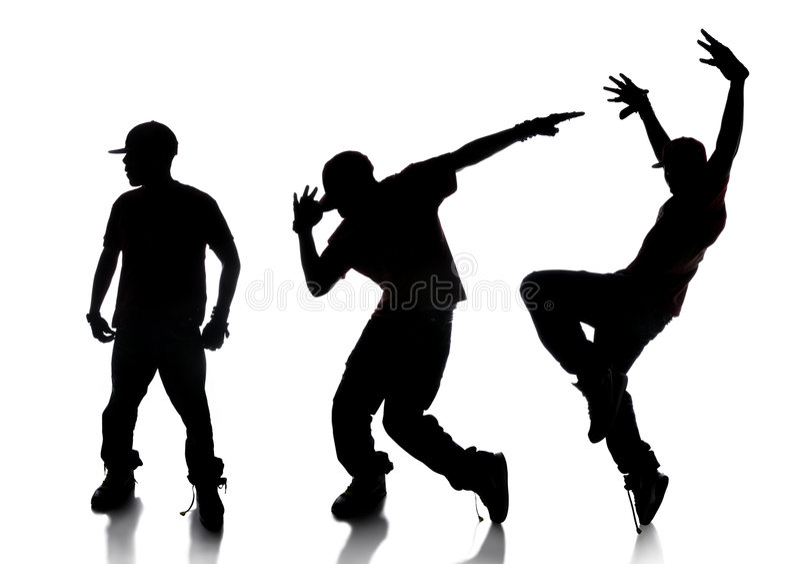 舞蹈演员Hip Hop顺序 库存例证