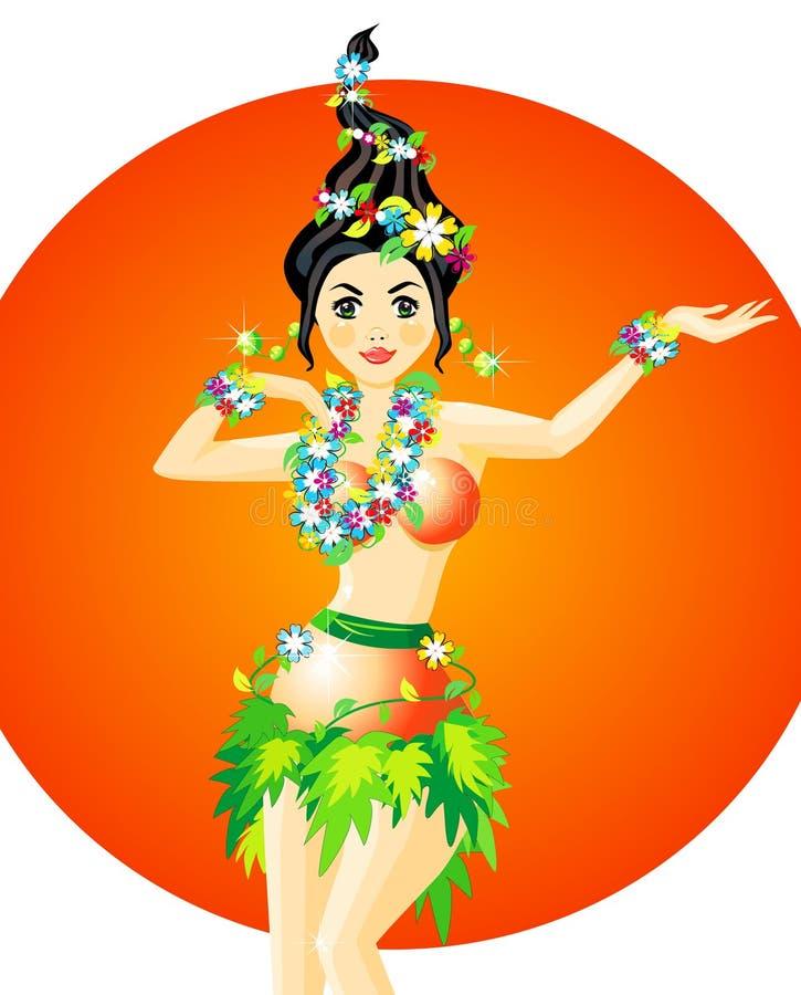 舞蹈演员hula 皇族释放例证