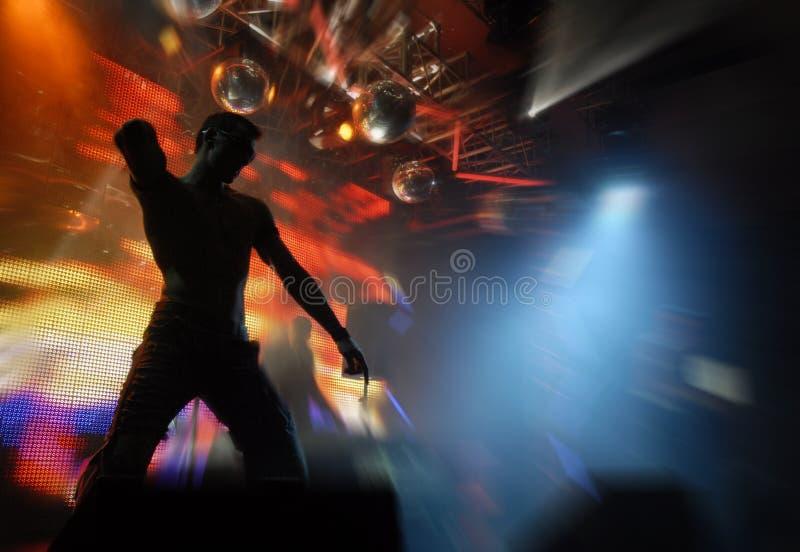 舞蹈演员techno 免版税库存图片