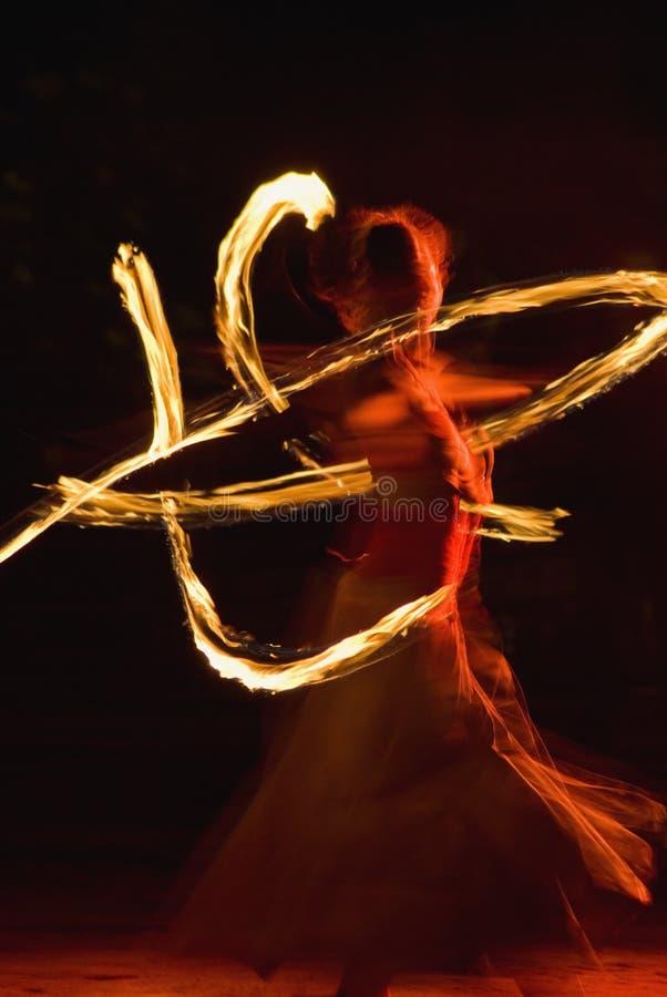 舞蹈火 免版税库存图片