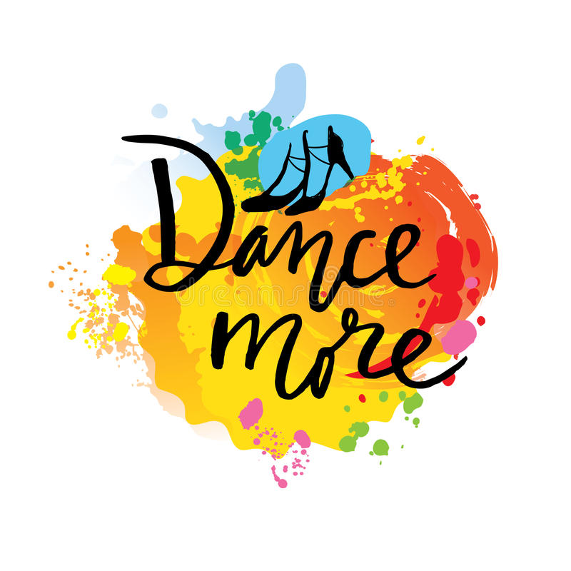 舞蹈独特的创造性的手字法和书法 诱导消息 向量例证