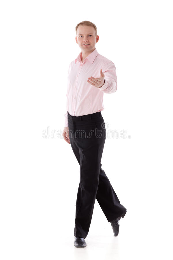 舞蹈舞蹈演员邀请男 库存照片