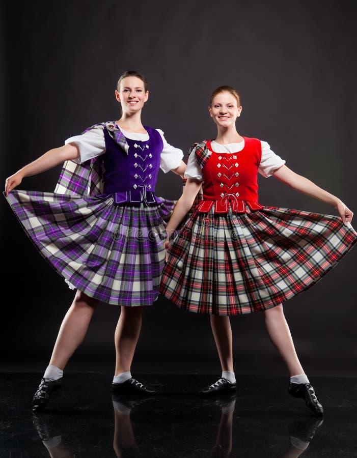 舞蹈苏格兰人 免版税图库摄影