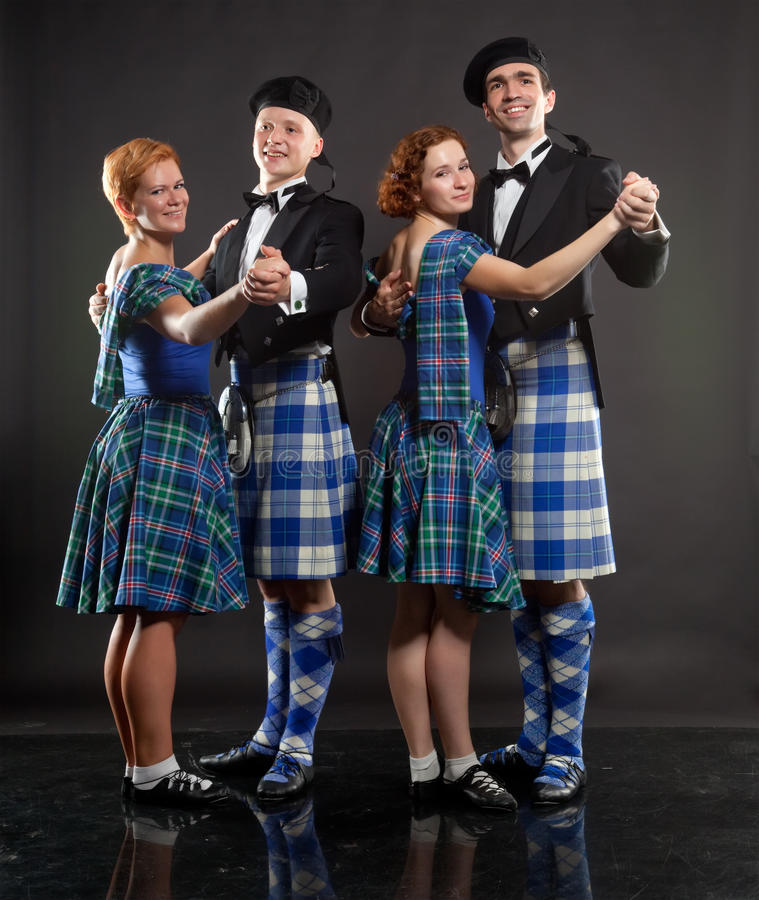 舞蹈苏格兰人 库存图片