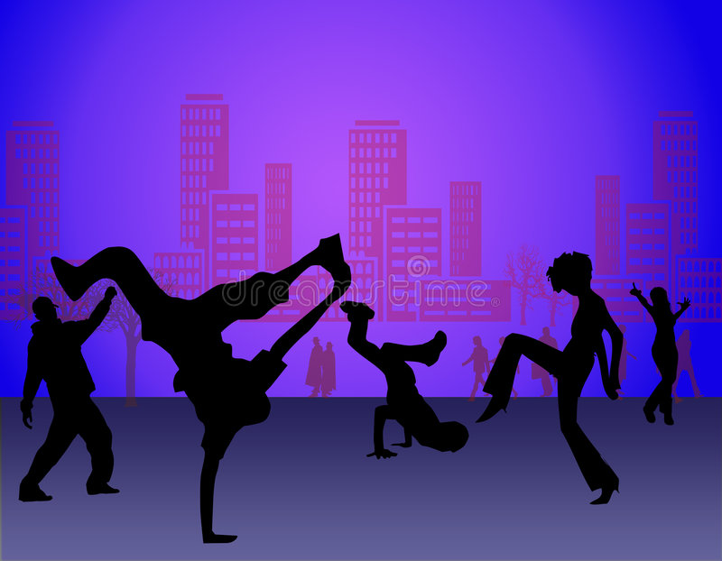 舞蹈街道 皇族释放例证