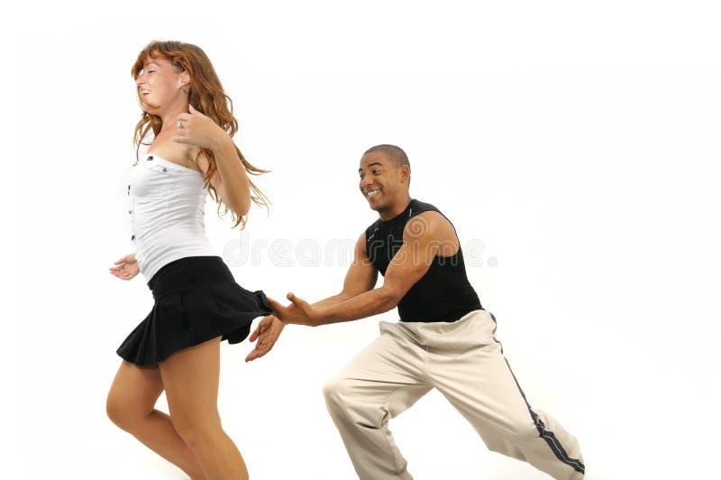 舞蹈讲师拉丁美洲人 免版税库存图片