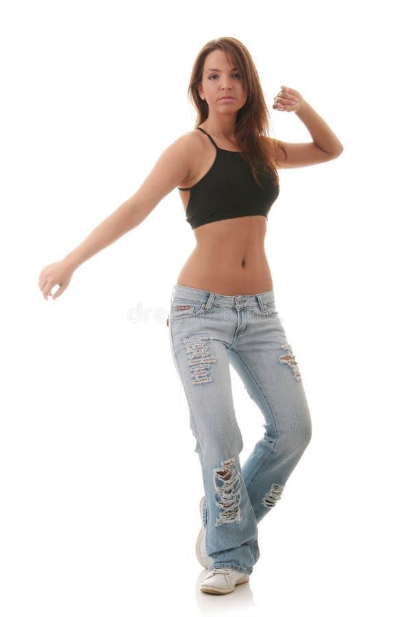 舞蹈跳舞女性爵士乐现代年轻人 库存图片