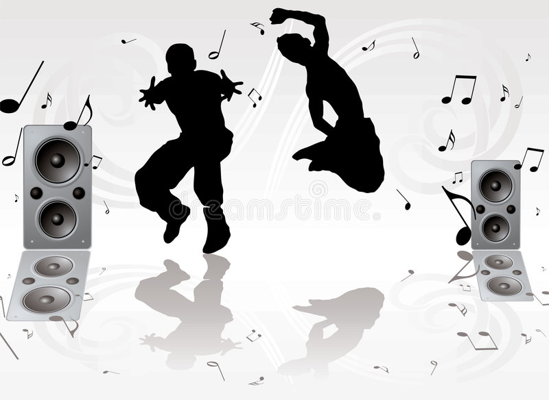 舞蹈音乐对 皇族释放例证