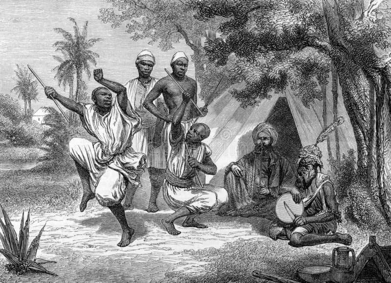 舞蹈黑人 向量例证