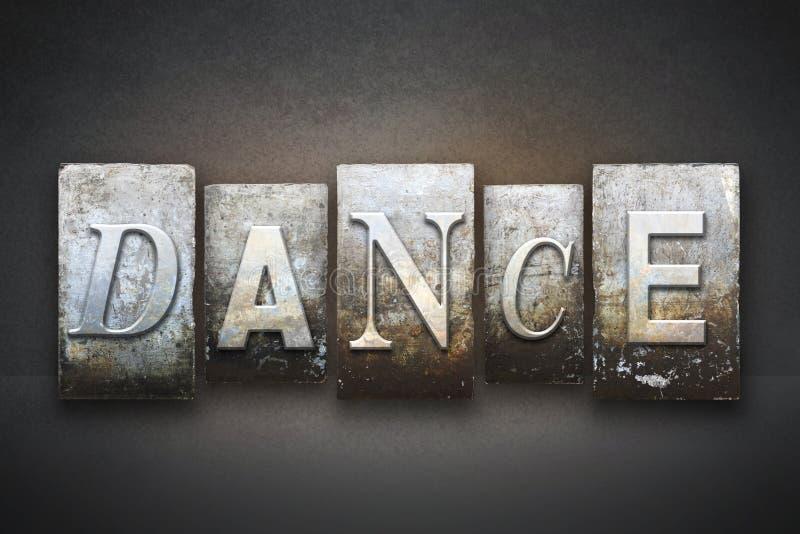 舞蹈活版 免版税库存照片