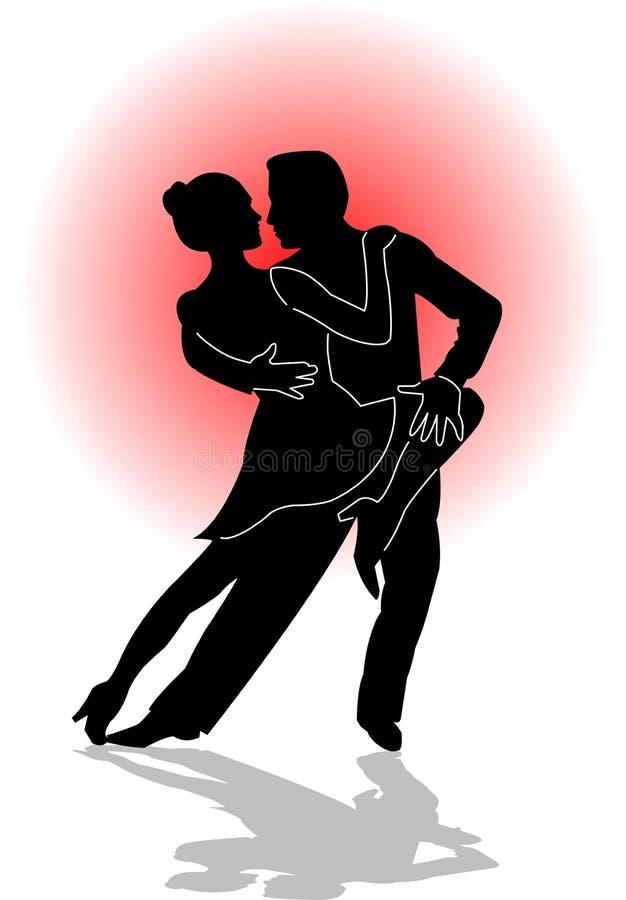 舞蹈eps探戈 向量例证