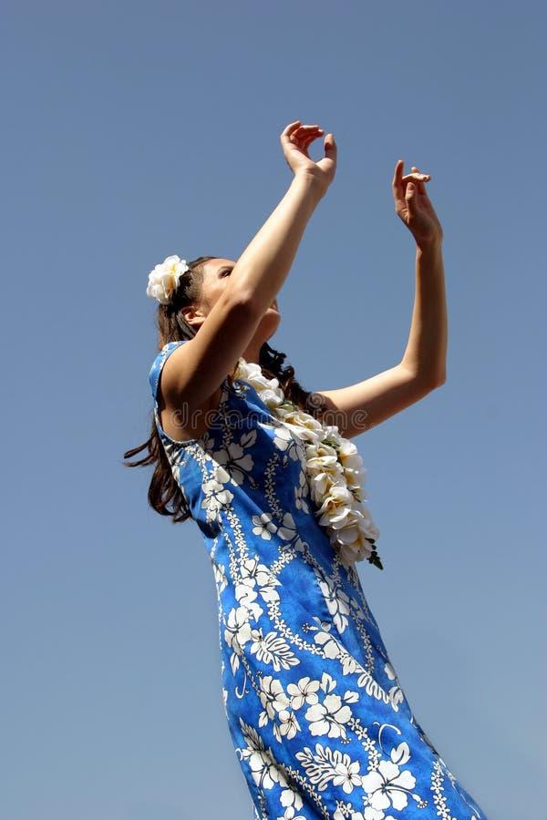 舞蹈hula 免版税库存图片