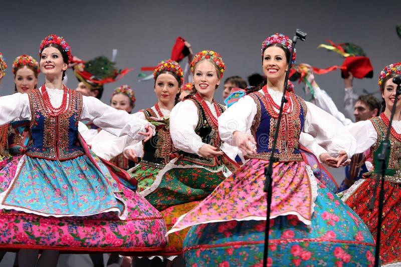 舞蹈mazowsze国家波兰马戏团 图库摄影