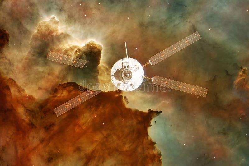 航天器发射到空间里 外层空间秀丽  库存照片