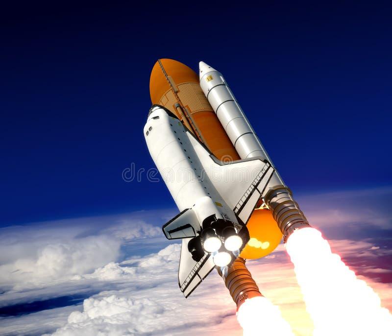 航天飞机发射 库存例证