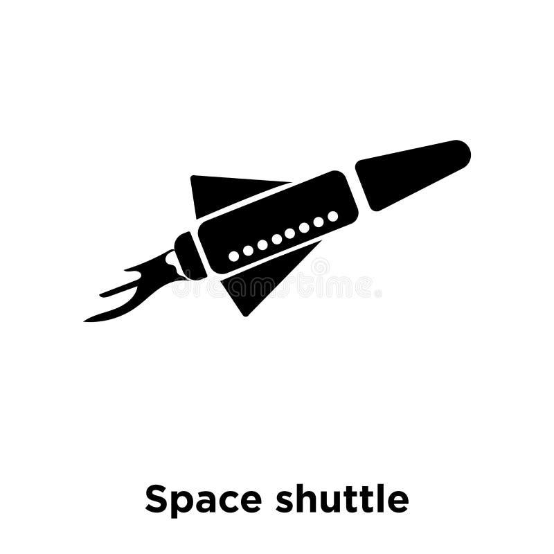 航天飞机在白色背景隔绝的象传染媒介,商标骗局 皇族释放例证