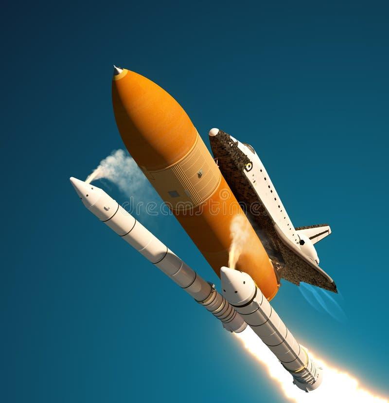 航天飞机坚实火箭队助推器分离 向量例证