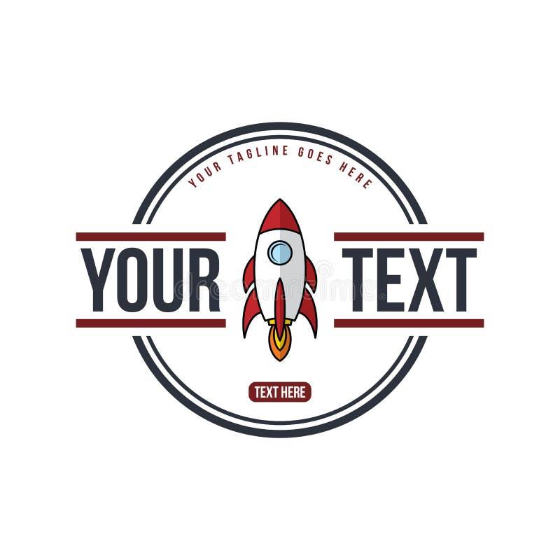 航天飞机火箭-徽章标签象征 皇族释放例证