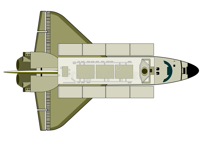 航天飞机空间 库存例证