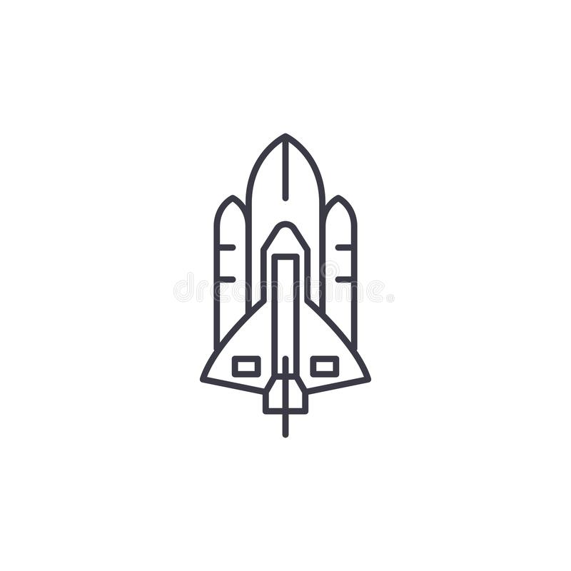 航天飞机线性象概念 航天飞机线传染媒介标志,标志,例证 皇族释放例证