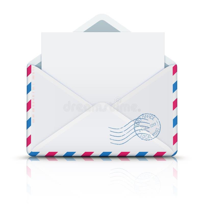 航寄过帐信包 向量例证