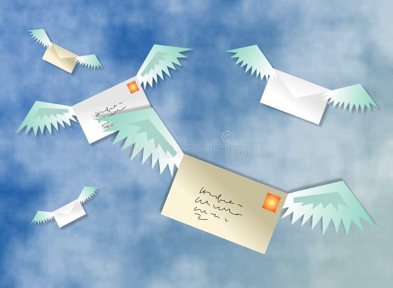 Download 航寄 库存例证. 插画 包括有 传送, 信函, 航空, 云彩, 信包, 过帐, 邮件, 飞行, 沟通, 天空, 发运 - 52415