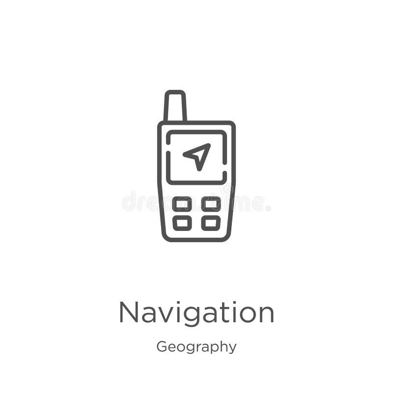 航海从地理汇集的象传染媒介 稀薄的线航海概述象传染媒介例证 概述,稀薄的线 向量例证