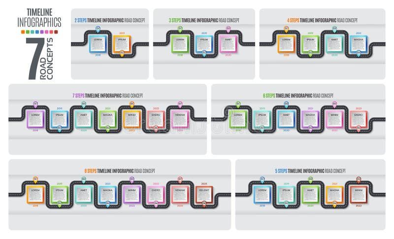 航海地图infographic时间安排概念 也corel凹道例证向量 库存例证