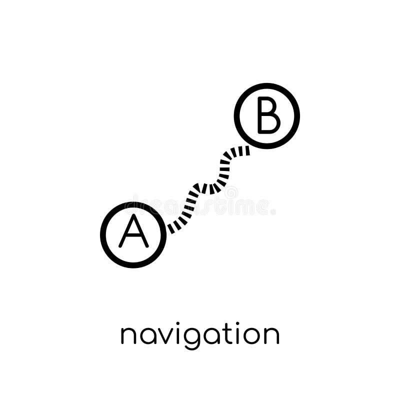 航海弹道象 时髦现代平的线性传染媒介Nav 向量例证