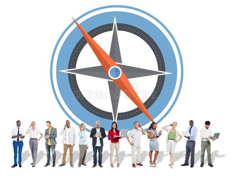 航海指南针方向探险指南旅途概念 免版税库存图片