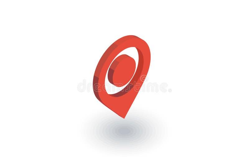 航海,地点标志,游标等量平的象 3d向量 库存例证