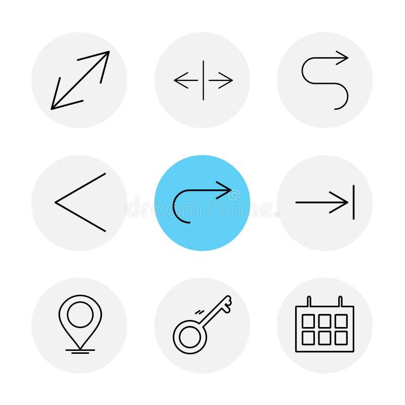 航海,日历,箭头,方向,具体化,下载 向量例证