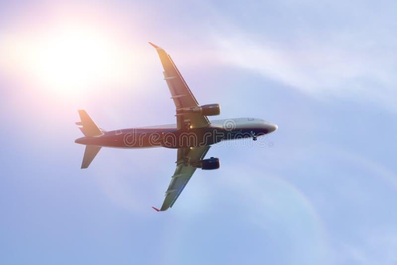 航空交通 aksel 飞行旅行 最快速的运输方式 免版税库存照片