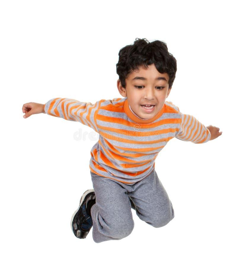 航空儿童跳 免版税库存图片