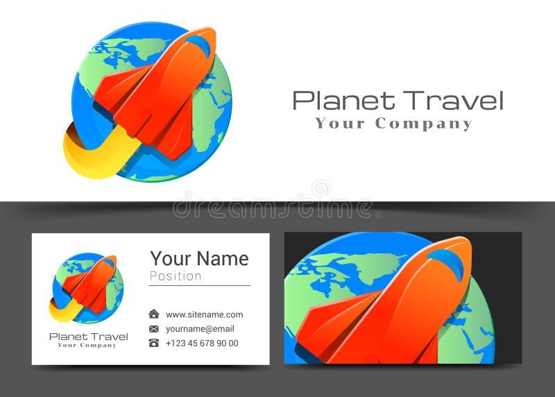 航空公司平面航空器艺术公司商标和名片标志 向量例证
