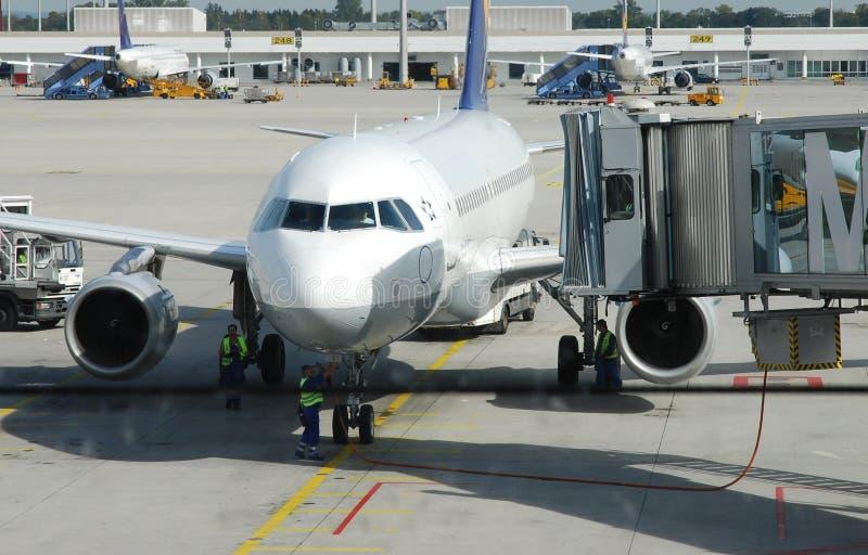 航空公司机场 免版税库存照片