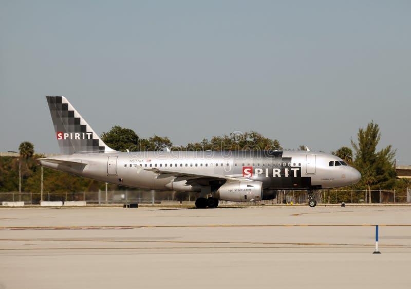 航空公司离去的喷气机精神 免版税库存图片