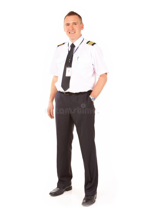 航空公司飞行员 免版税库存图片