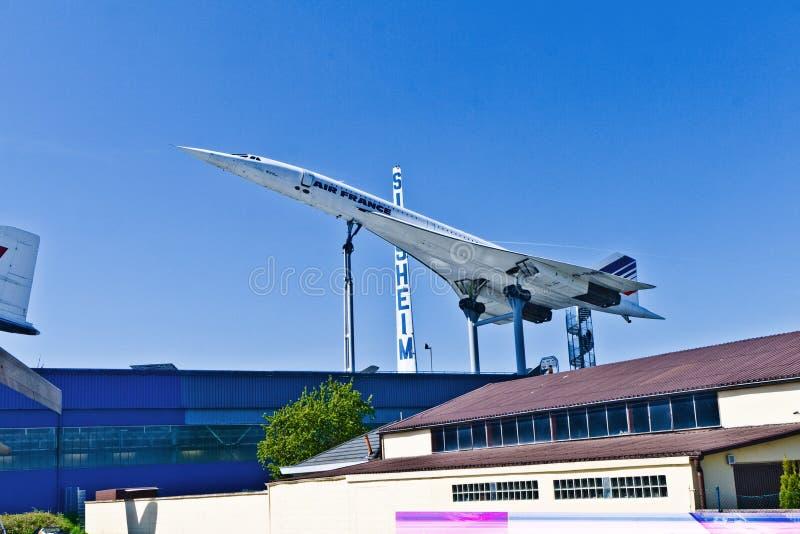 航空器协和飞机在Sinsheim的博物馆 免版税库存照片
