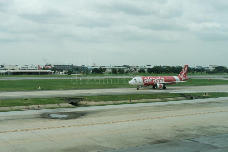 航空器唐Mueang国际机场到达 图库摄影