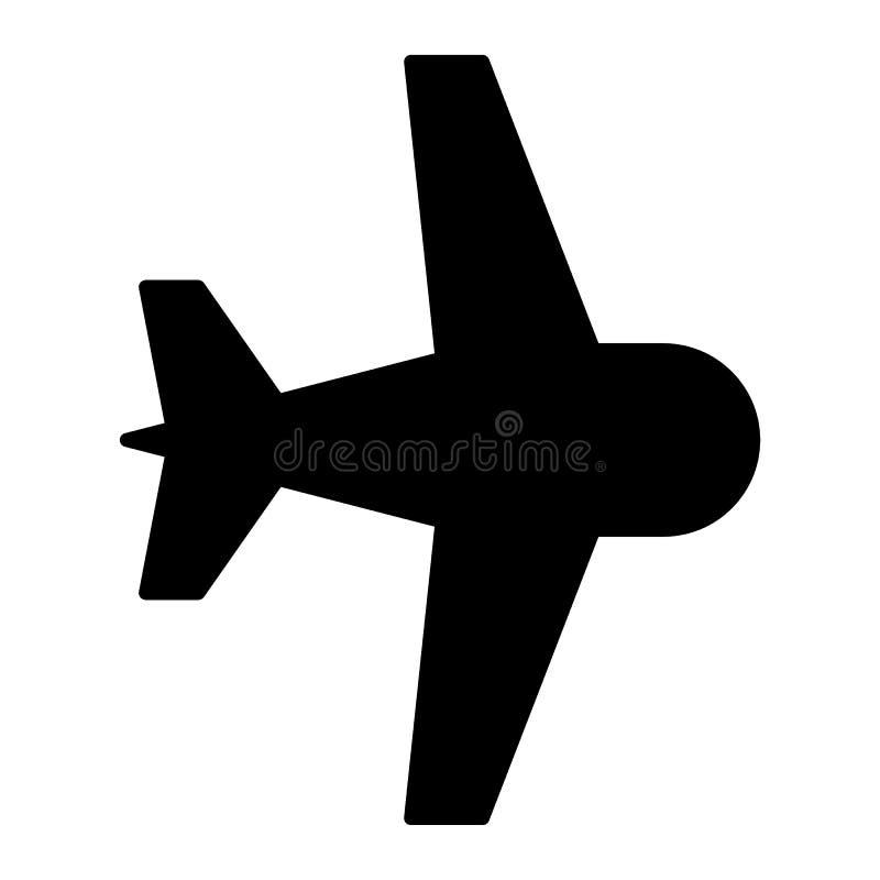 航空器固体象 平面在白色隔绝的传染媒介例证 飞机纵的沟纹样式设计,设计为网和app 皇族释放例证