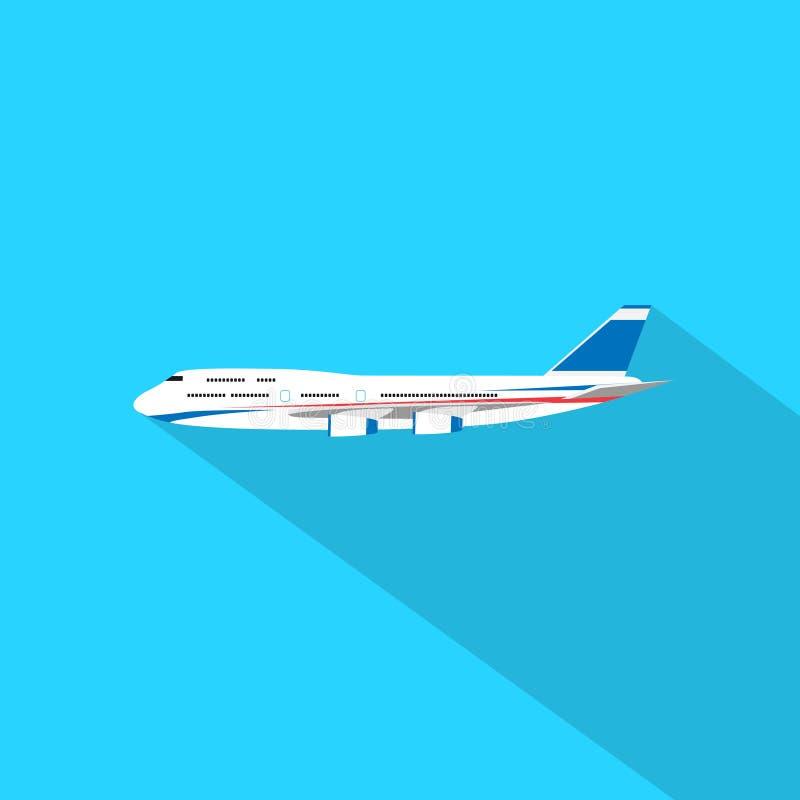 航空器平的设计样式传染媒介例证 皇族释放例证
