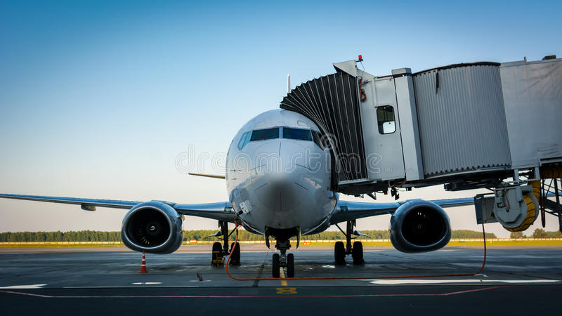 航空器的准备飞行的 免版税图库摄影